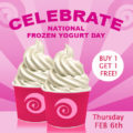 Buy One Get One Free at Frenzi on National Frozen Yogurt Day!